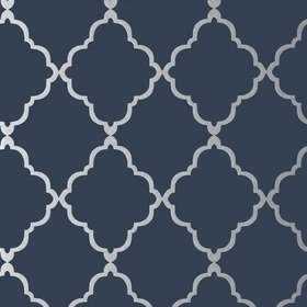 Anna French Klein Trellis Silver-Navy AT6060
