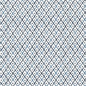 Anna French Mini Trellis Blue AT78750
