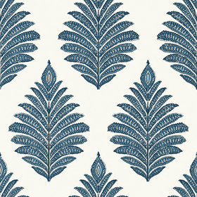 Anna French Palampore Leaf Blue-White AT78725