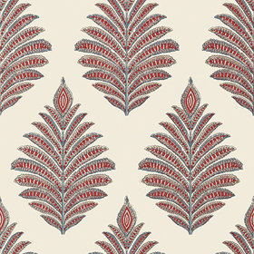Anna French Palampore Leaf Red-Blue AT78726