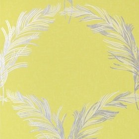 Anna French Plumes Metallic Silver on Citron AT7925