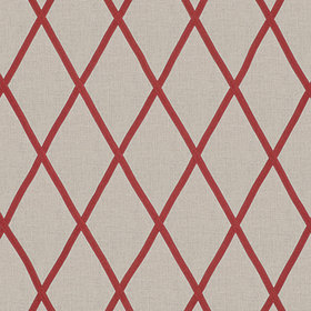 Anna French Tarascon Trellis Applique Red-Natural AW78710