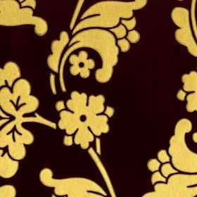 Anna French Velvet Jacquard Brown-Gold VELWP034