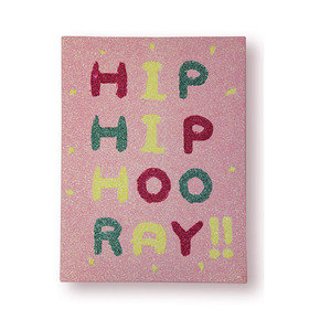 Arthouse Girls Life Hip Hip Hooray Glitter Canvas 004674