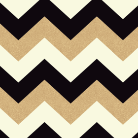 Arthouse For S.J. Dixon Glitterati Chevron Black-Gold 892300