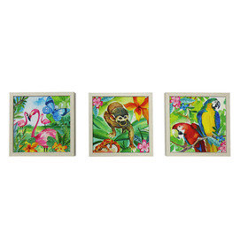 Arthouse Jungle Mania Set of 3 Framed Canvas 004689