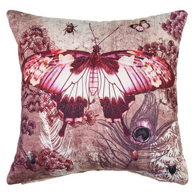 Arthouse Kyasha Butterflies Embroidered Double Sided Cushion 004764