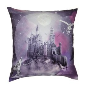 Arthouse Magical Kingdom Purple Cushion 008349