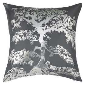 Arthouse Meili Gunmetal Metallic Double Sided Cushion 004768