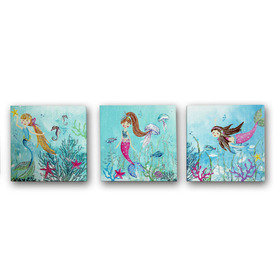 Arthouse Mermaid World Set of 3 Canvas 004681