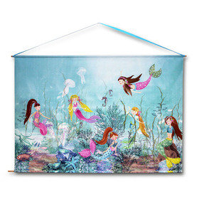 Arthouse Mermaid World Wall Scroll 008358