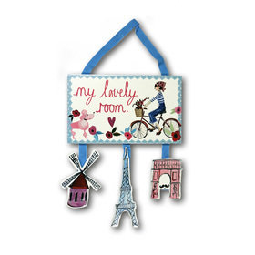 Arthouse Paris With Love Wooden Room Sign 004658