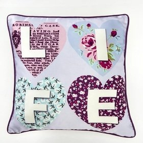 Arthouse Patchwork Hearts Cushion 008305