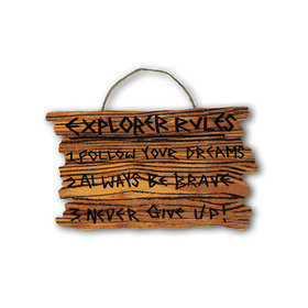 Arthouse Pirates Ahoy Wooden Hanging Sign 004659