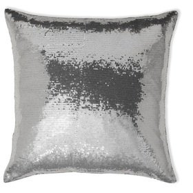 Arthouse Sequin Cushion Platinum 008337