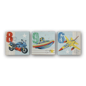 Arthouse Zoom Away Set of 3 Canvas 004684