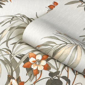 Belgravia Decor Botanique Orange-Grey GB3422