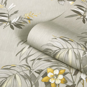 Belgravia Decor Botanique Yellow-Beige GB3423