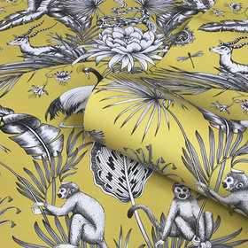 Belgravia Decor Menagerie Yellow GB2001
