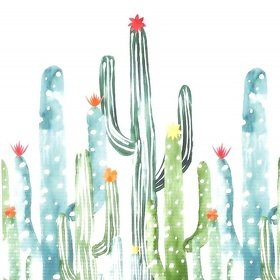 Brian Yates Watercolour Painted Cactus 143-158829