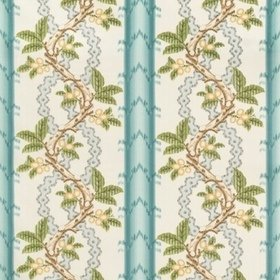 Brunschwig & Fils Josselin Cotton And Linen Print Aqua-Mist BR79510-13