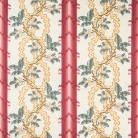 Brunschwig & Fils Josselin Cotton And Linen Print Madder-Clay BR79510-912