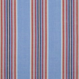 Brunschwig & Fils Verdon Stripe Blue-Red 8017101-519