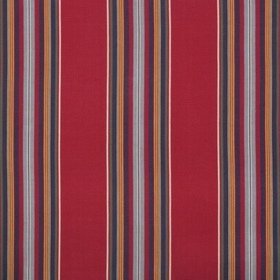 Brunschwig & Fils Verdon Stripe Red-Navy 8017101-950