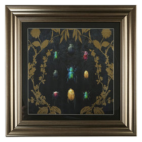 Arthouse Alchemy Bugs Foiled Framed Print 004756