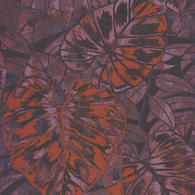 Casadeco Feuilles Orange-Prune PANA81073633