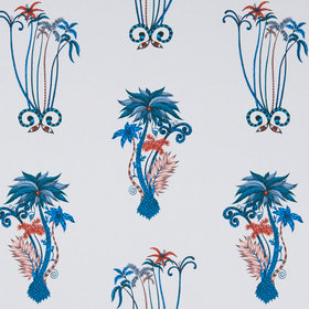 Emma J Shipley For Clarke & Clarke Jungle Palms Blue F1110-01