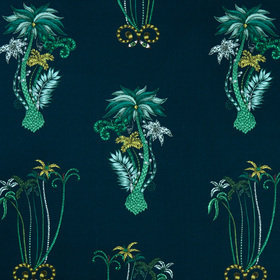 Emma J Shipley For Clarke & Clarke Jungle Palms Navy F1110-03