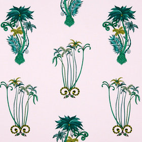 Emma J Shipley For Clarke & Clarke Jungle Palms Pink F1110-04