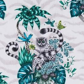 Emma J Shipley For Clarke & Clarke Lemur Jungle F1112-01