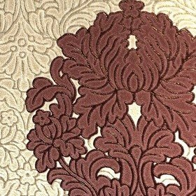 Colemans Floriana Damask Beige-Red 35340