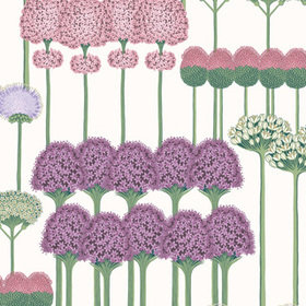 Cole & Son Allium Mulberry-Blush-Lilac-White 115-12034