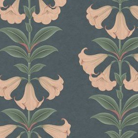 Cole & Son Angels Trumpet Coral-Viridian-Ink 117-3009