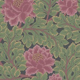 Cole & Son Aurora Rose-Forest-Charcoal 116-1002