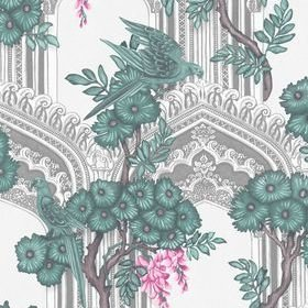 Cole & Son Babylon Teal-Pink 113-13039