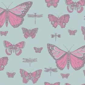 Cole & Son Butterflies & Dragonflies Pink-Blue 103-15062