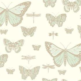 Cole & Son Butterflies & Dragonflies Duck Egg-Ivory 103-15065