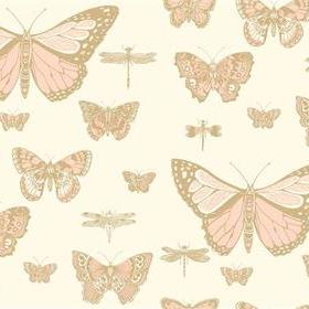 Cole & Son Butterflies & Dragonflies Pink-Ivory 103-15066