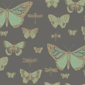 Cole & Son Butterflies & Dragonflies Green-Charcoal 103-15067