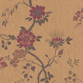 Cole & Son Camellia Crimson-Metallic Gold 115-8027