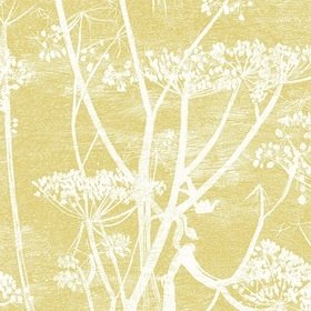 Cole & Son Cow Parsley Linen White-Chartreuse F111-5020