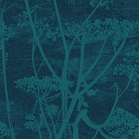 Cole & Son Cow Parsley Velvet Viridian-Ink F111-5015