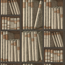 Cole & Son Ex Libris Beige-Grey-Brown 77-11040