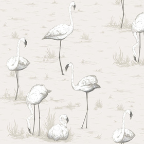 Cole & Son Flamingos Soft Grey 95-8046