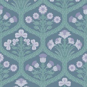 Cole & Son Floral Kingdom Lilac-Teal-Denim 116-3011