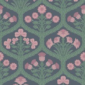 Cole & Son Floral Kingdom Rose-Forest-Charcoal 116-3010